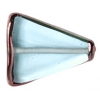 Glass Lamp Bead 22x18x5mm Light Sapphire/Bronze Triangle